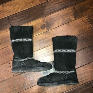 Women's size 9 tall black ugg boots